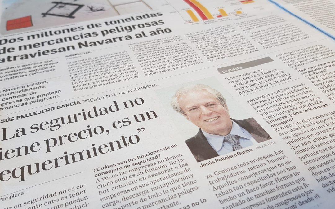Dos millones de toneladas de mercancías peligrosas atraviesan Navarra al año. Diario de Navarra. 22 Octubre del 2017