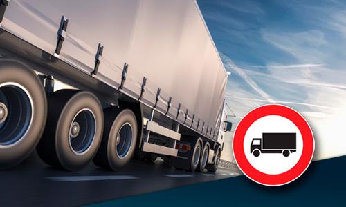 Restricciones a la circulación de camiones del 27 de Septiembre al 3 de Octubre